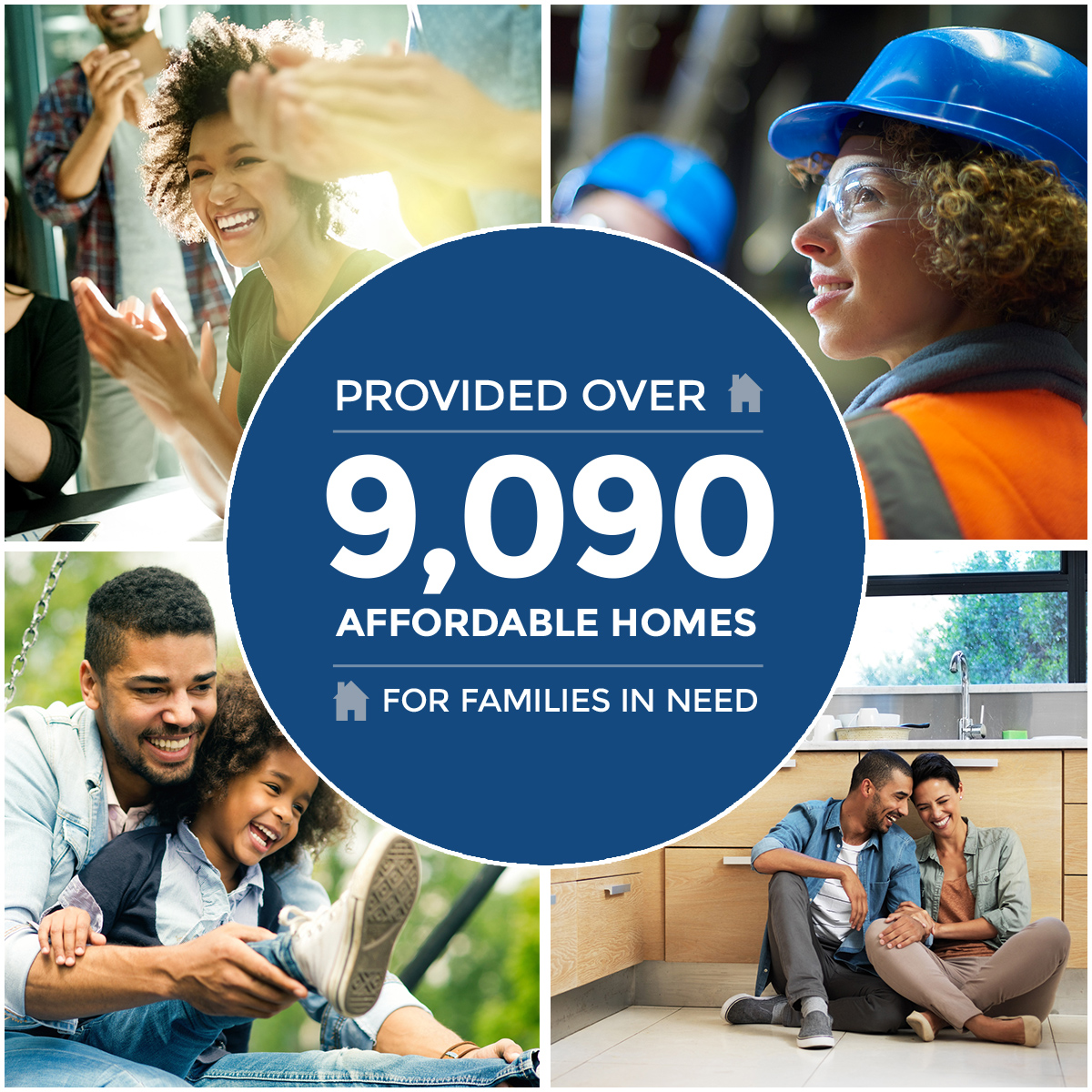 Provided over 4100 affordable homes for families in need.